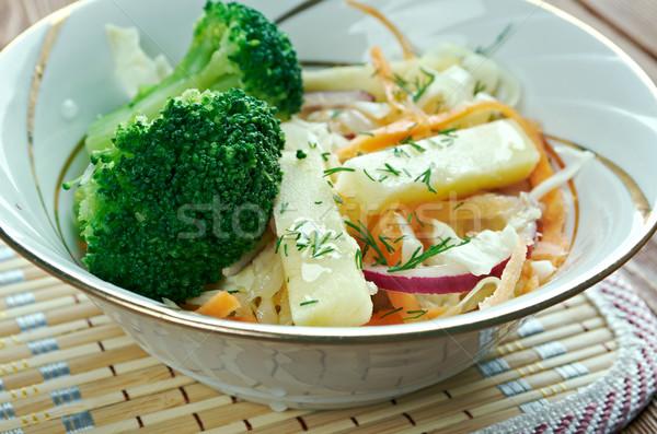 Esdoorn broccoli appel variatie koolsla siroop Stockfoto © fanfo