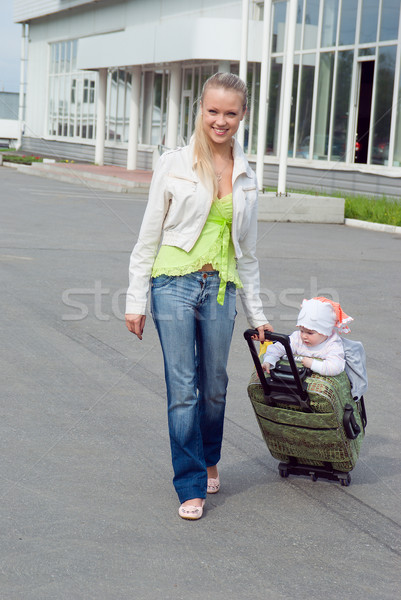 family goes to journe Stock photo © fanfo