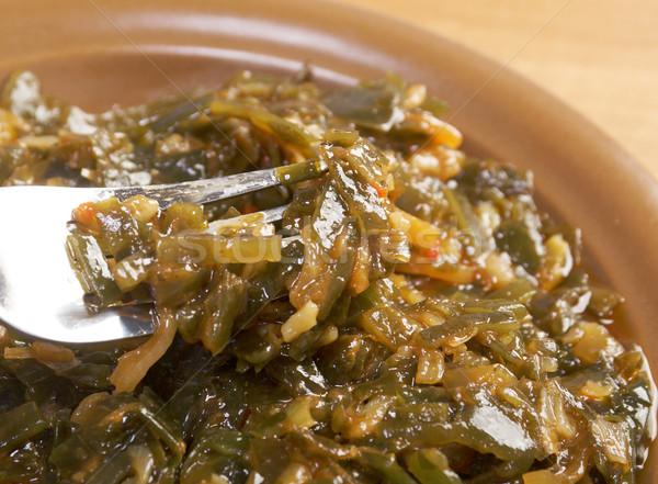 algaes salad -Laminaria Stock photo © fanfo