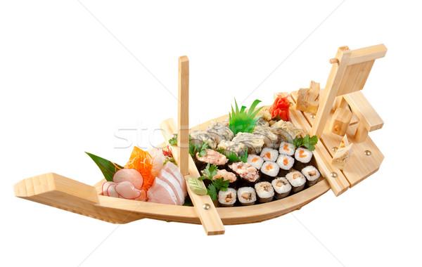 суши японская еда судно традиционный рыбы морем Сток-фото © fanfo