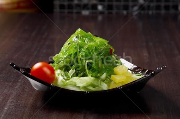 Салат морские водоросли растительное продовольствие блюдо Сток-фото © fanfo