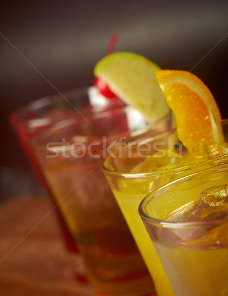 set tropical cold cocktail   Stock photo © fanfo