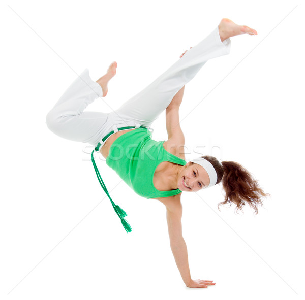 girl  capoeira dancer posing  Stock photo © fanfo