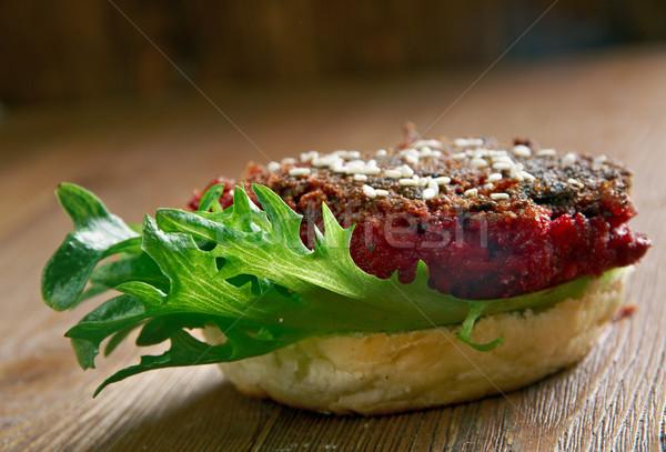 Сток-фото: квартал · Burger · продовольствие · растительное · тоста · никто