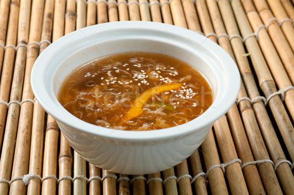 Chińczyk stylu wołowiny makaron zupa puchar Zdjęcia stock © fanfo