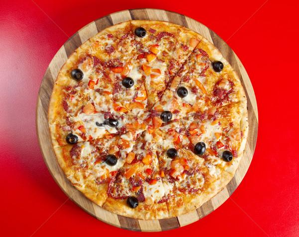 ストックフォト: ピザ · ペパロニ · イタリア語 · キッチン · スタジオ · レストラン