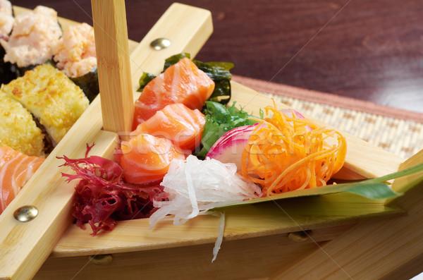 Foto stock: Sushi · comida · japonesa · navio · tradicional · peixe · restaurante