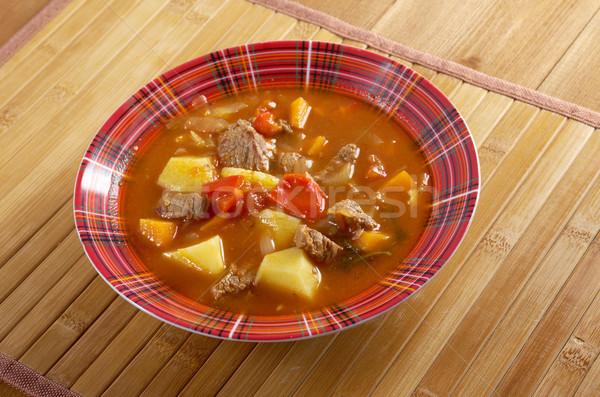Traditional Bulgarian soup chorba. Stock photo © fanfo