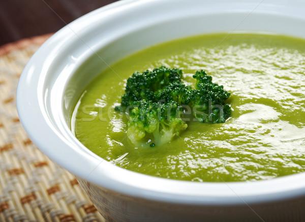 Kremsi çorba brokoli yeme krem yemek Stok fotoğraf © fanfo