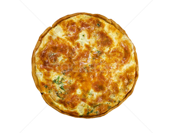 quiche with halibut Stock photo © fanfo