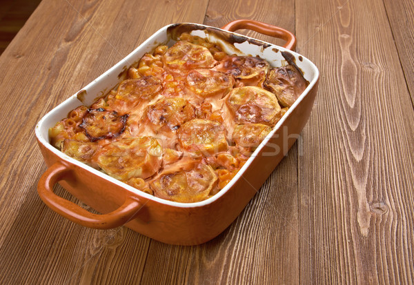 Elbow macaroni bake with zucchini Stock photo © fanfo