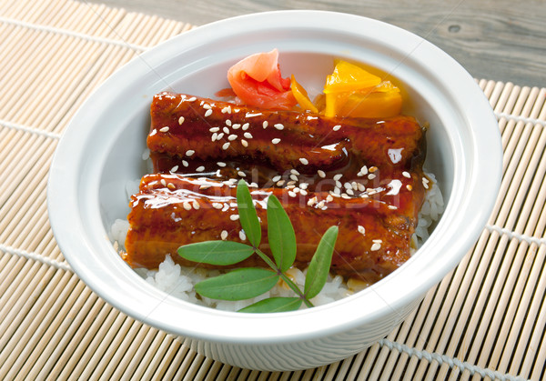 japanese food roast eel ( unagi  Stock photo © fanfo