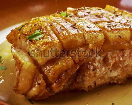 barbecued pork ribs  Stock photo © fanfo