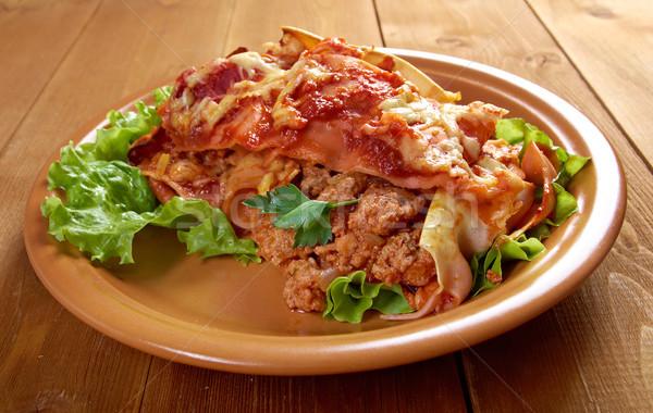 Italiana fatto in casa lasagna carne formaggio alimentare Foto d'archivio © fanfo
