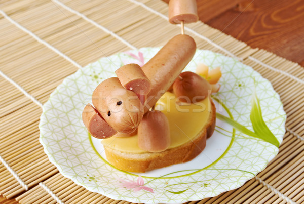 sandwich made of dog sausages Stock photo © fanfo
