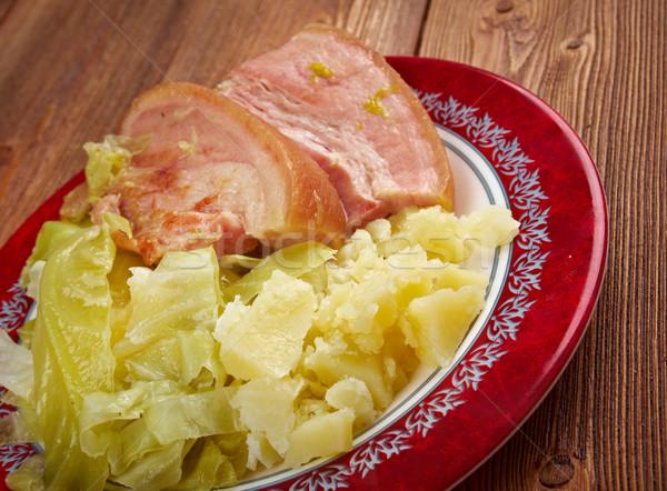 бекон капуста блюдо по традиции Ирландия назад Сток-фото © fanfo