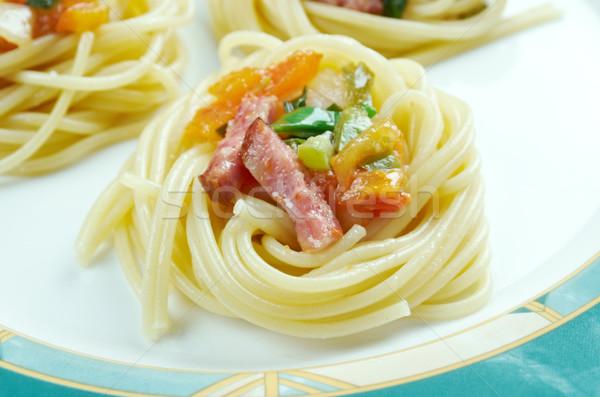 Сток-фото: спагетти · спиральных · сквош · колбаса · растительное