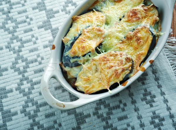 Yunan et patlıcan peynir sebze Stok fotoğraf © fanfo