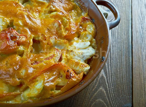 魚 野菜 食事 皿 健康 クローズアップ ストックフォト © fanfo