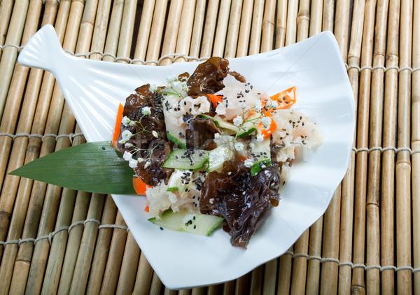 Keverék saláta kínai konyha étel edény Stock fotó © fanfo