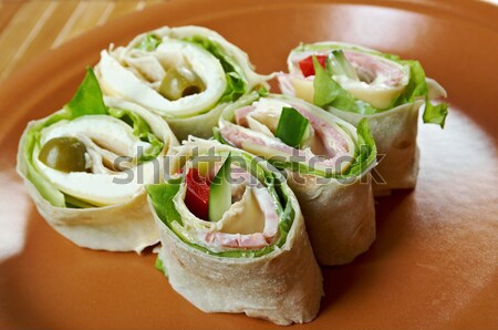 sandwich pita bread roll with cheese Stock photo © fanfo