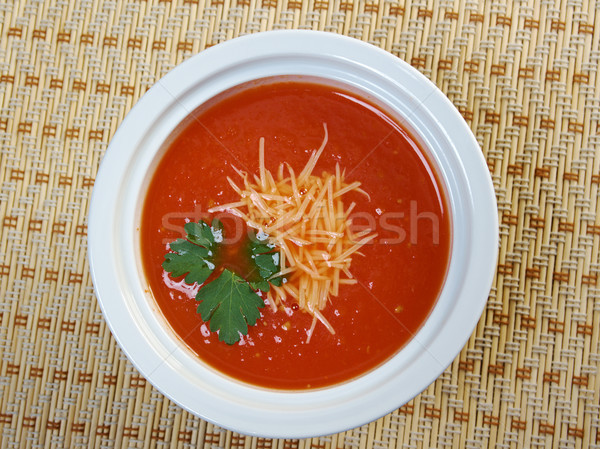 Thick and hearty tomato soup Stock photo © fanfo