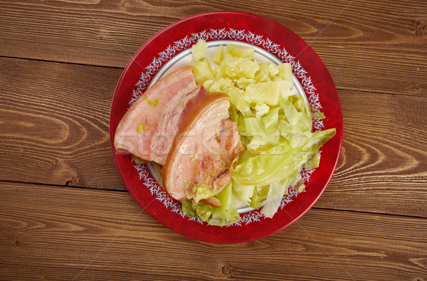Bacon and cabbage Stock photo © fanfo