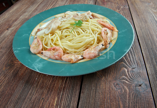 Spaghetti ai frutti di mare Stock photo © fanfo