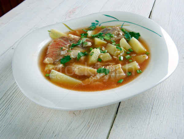 fish soup Aljotta Stock photo © fanfo
