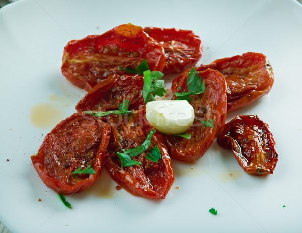 Tomates turco cozinha papel comida tomates Foto stock © fanfo