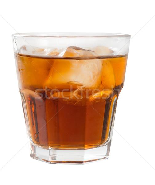 Stockfoto: Oranje · cocktail · geïsoleerd · witte · bril