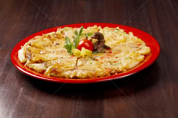 японская еда продовольствие пиццы обед быстро Сток-фото © fanfo