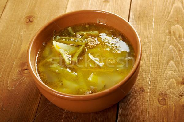 Russian soup rassolnik  Stock photo © fanfo