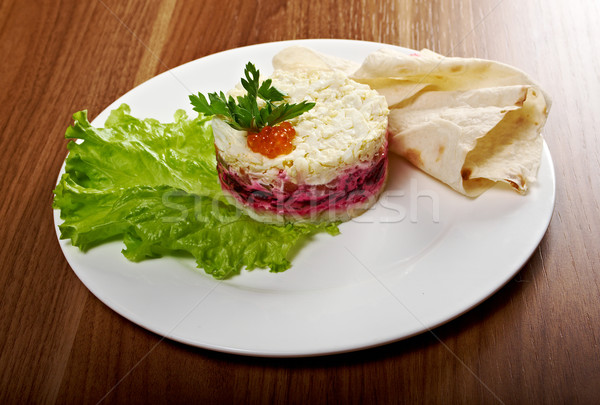Salad with salmon  Stock photo © fanfo