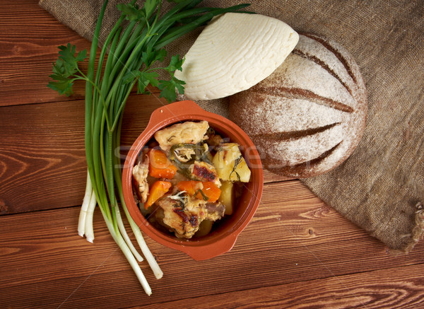 国 シチュー 鶏 アメリカン 伝統的な 表 ストックフォト © fanfo