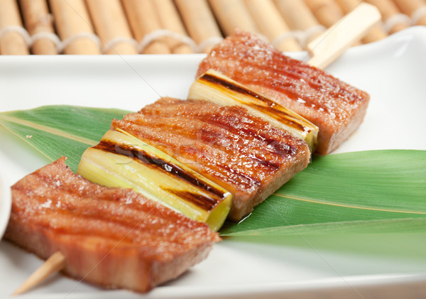 Japanese skewered. Kebab Stock photo © fanfo