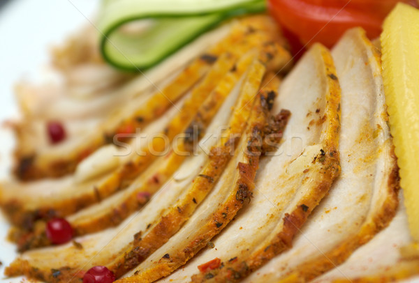 Mooie voedsel arrangement varkensvlees ondiep Stockfoto © fanfo
