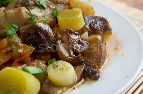 eggplant stewed with mushroom  Stock photo © fanfo