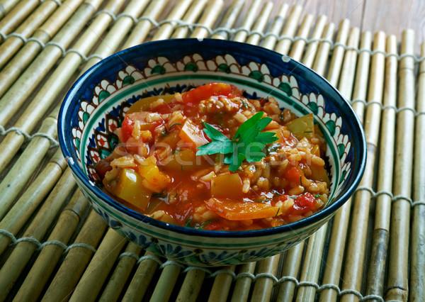 Turkish appetizer of tomato Stock photo © fanfo