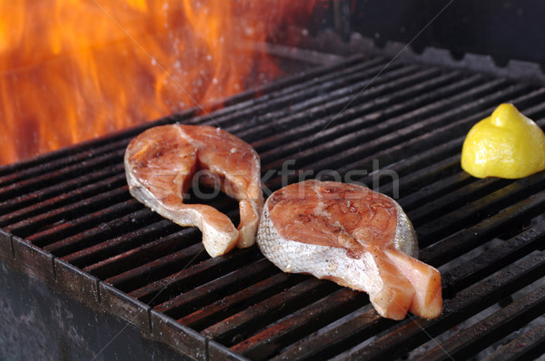 salmon steak barbecue  Stock photo © fanfo