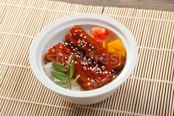 Comida japonesa enguia japonês cozinha comida peixe Foto stock © fanfo