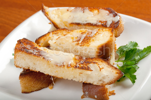 Garlic bread with herbs Stock photo © fanfo