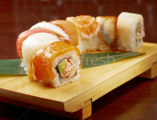 Japonês sushi tradicional comida japonesa fumado peixe Foto stock © fanfo