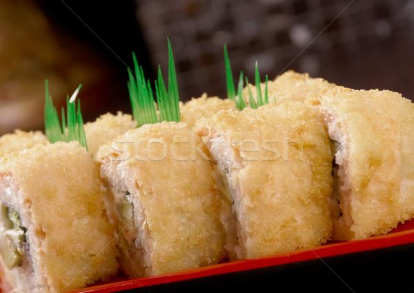 Japanese sushi  traditional japanese food. Stock photo © fanfo