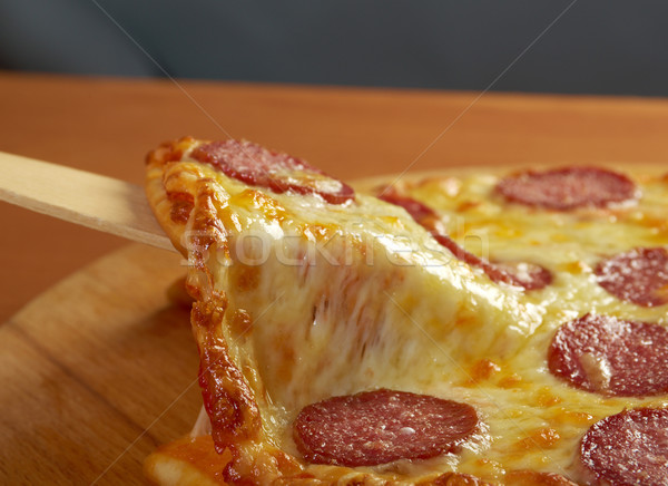 homemade  pizza  Pepperoni Stock photo © fanfo
