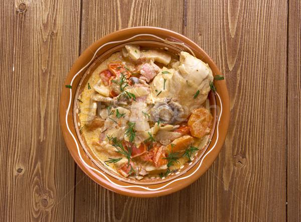Linii gulasz mięsa boczek tłuszczu mąka Zdjęcia stock © fanfo
