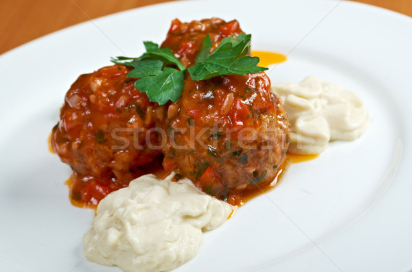 meatballs cooked with vegetables Stock photo © fanfo