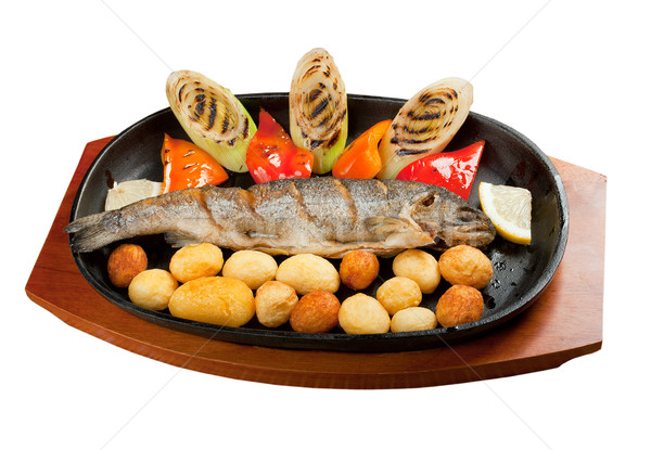 Grilled Trout .japanese cuisine  Stock photo © fanfo