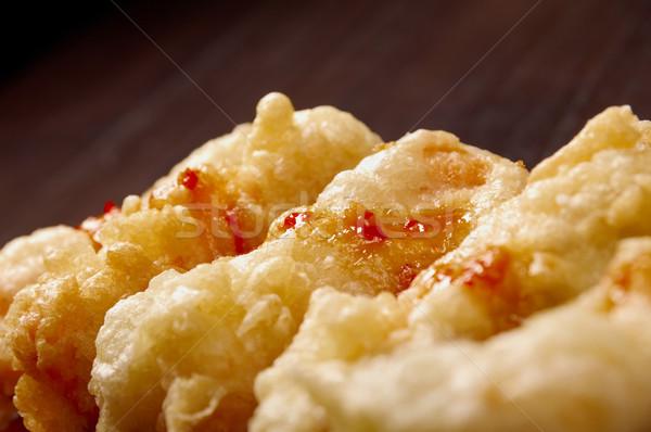 Сток-фото: рыбы · чипов · жареный · обеда · пластина · картофеля
