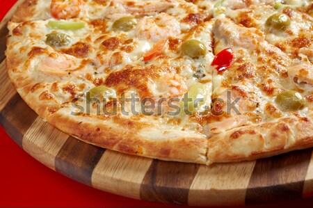 Zdjęcia stock: Pizza · rzeźnik · sklep · włoski · kuchnia · studio